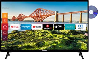 Telefunken XH24J501VD 24 inch televisie (Smart TV incl. Prime Video/Netflix/YouTube, HD ready, DVD-speler, 12 Volt, Works ...