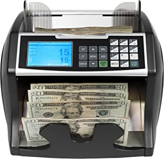 Royal Sovereign High Variable Speed Money Counting Machine, with UV, MG, IR Counterfeit Bill Detector & Front Loader (RBC-4500)