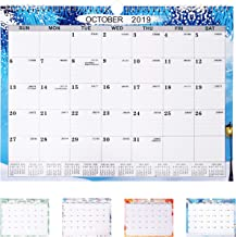 2019-2020 Wall Calendar Monthly Pages, Office Desk Pad Calendar Apply to 2020 Daily Planning and Organizing, Simple Stylish Calendar Planning Form Home Decor (15''x 11.5'')