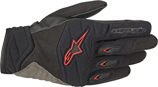 Shore Motorcycle Street Riding Glove (M, Black Red)