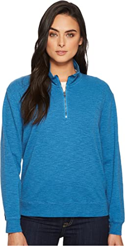 Mod-o-doc - Heather Slub Rib 1/2 Zip Funnel Pullover