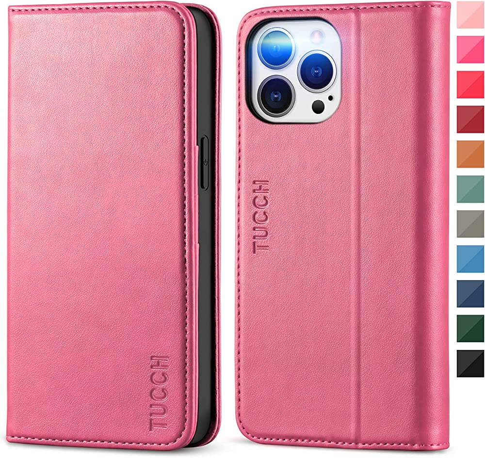 Tucch porta carte di credito portafoglio custodia in pelle sintetitca per iphone 13 pro max 5G ECTH2108-76