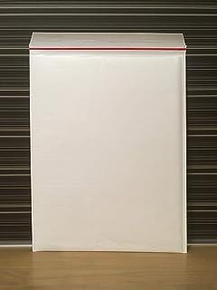 クッション封筒 A3 サイズ (LPレコード ゼンリン住宅地図が入る) ホワイト 100枚 定形外郵便規格外 左右開き簡易開封テープ、クイック封かんシール付