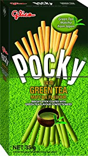 Glico Pocky Green Tea Biscuit Stick, 35g