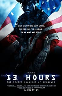 WMG 13 Hours: The Secret Soldiers of Benghazi - Movie Poster (2016), Size 24 x 36 Inches, Glossy Photo Paper (Thick 8mil) - John Krasinski, James Badge Dale