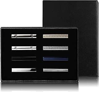 8 Pcs Tie Clips Set for Men Tie Bar Clip Set for Regular Ties Necktie Wedding Business Clips with Box