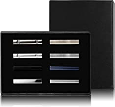 Jstyle 8 Pcs Tie Clips Set for Men Tie Bar Clip Set for Regular Ties Necktie Wedding Business Clips with Box