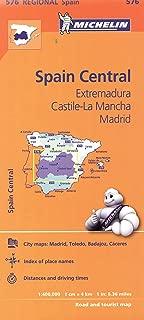 Michelin Spain: Central, Extremadura, Castilla-La Mancha, Madrid Map 576 (Maps/Regional (Michelin))