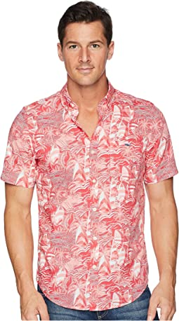 At Sea Patchwork Short Sleeve Slim Tucker Shirt