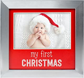 Lil Peach Baby's First Christmas Holiday Photo Frame, Perfect Christmas Baby Gift for New Parents to Celebrate Baby's First Holiday