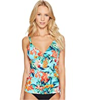 Tommy Bahama - Floriana Over-The-Shoulder Tankini With Hardware