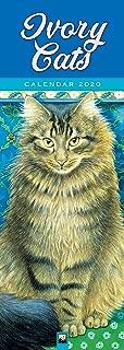 Ivory Cats Slim Calendar 2020 (Art Calendar)