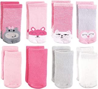 Luvable Friends Baby Boys Computer Socks 0-9 Months Blue-Green-Stripe