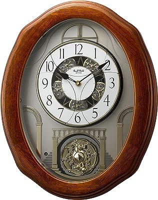 Rhythm Clocks Magic Motion Clock Joyful Glory Black, White, Grey
