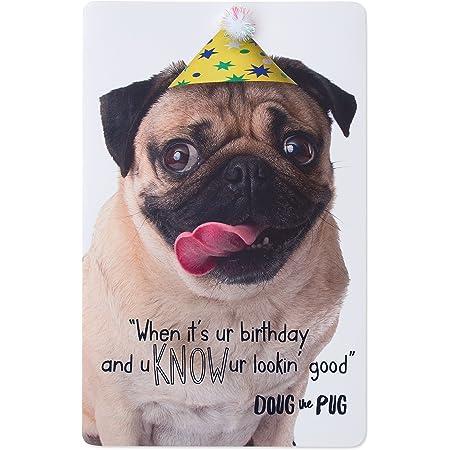 Anniversary greetings card Pug