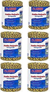 Fi-Shock PW656Y9-FS Electric Fence Polywire 9-Strand (6 Pack), 656`