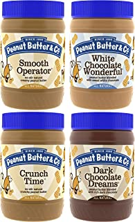 Peanut Butter & Co. Top Sellers Variety Pack, Non-GMO Project Verified, Gluten Free, Vegan, 16 oz Jars (Pack of 4)