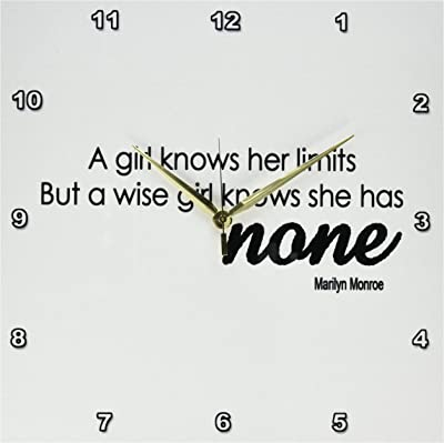 3dRose DPP_173427_2 A Girl Knows She Has Her Limits But a Wise Girl Knows She Has