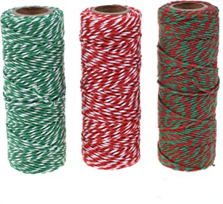 Cosmos ® Cotton Baker's Twine Cording, 3 Roll Assorted Colors