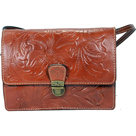 Patricia Nash Tooled FLORENCE LANZA Leather Crossbody Bag