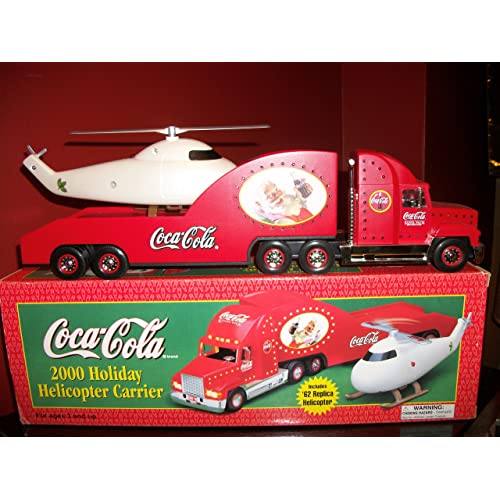 0fa3ac43793088 Coca-Cola Holiday Helicopter Carrier with Lighted Truck Limited Edition