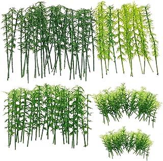 120 PCS Bambou Modèle Arbres, Woohome 5 Taille Plastique Bambou Arbre Modelisme Train Arbres Paysage Arbre de Diorama Arbr...