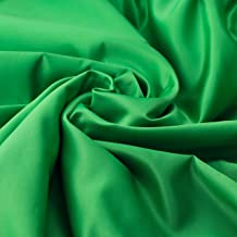 4.9×9.8ft Green Seamless Fabric Backdrop, Screen Backdrop,Polyester Material Background Cloth for Photography,Video and Televison,Good Fabric Drape,No Rod Pocket