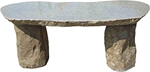 Stone Age Creations BE-BO-1 Granite Boulder Bench, Grey