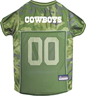 NFL CAMO JERSEY for DOGS & CATS. Football Dog Jersey Camouflage available in 32 NFL TEAMS & 5 sizes. Cuttest Hunting Dog Dress! Camouflage Pet Jersey with Team Logo.