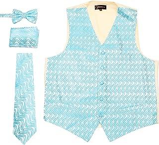 Mens Adjustable Geometric Pattern Vest Set
