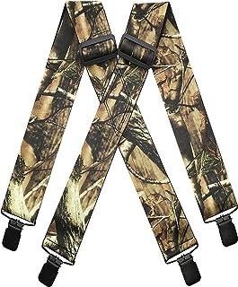"2/"" XL Side Clip Suspenders //Braces New Hunter Green Made n USA Men/'s Adj"