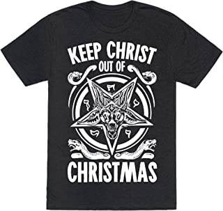 Keep Christ Out of Christmas Baphomet Mens/Unisex Fitted Triblend Tee