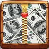 Pantalla de bloqueo de cremallera de dinero