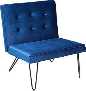 Christopher Knight Home DuSoleil Velvet Mid Century Modern Armless Hair Pin Leg Chair (Navy Blue)