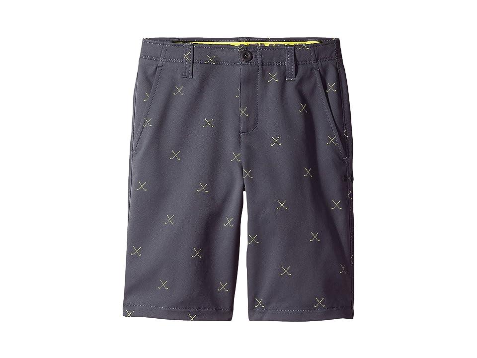 Under Armour Kids Match Play Printed Shorts (Little Kids/Big Kids) (Rhino Gray/Sulfur/Rhino Gray) Boy's Shorts