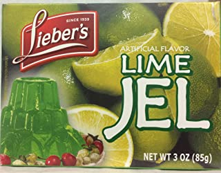 Lieber's Artificial Flavor Lime Jel Kosher For Passover 3 Oz. Pack Of 3.