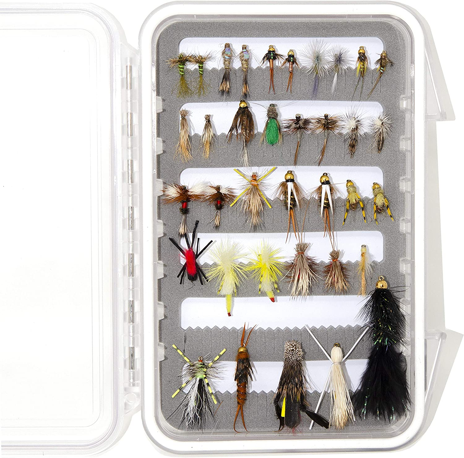 Outdoor Planet 36Pieces Essential Over item handling ☆ Nymphs Product Dry Flies Fli Wet