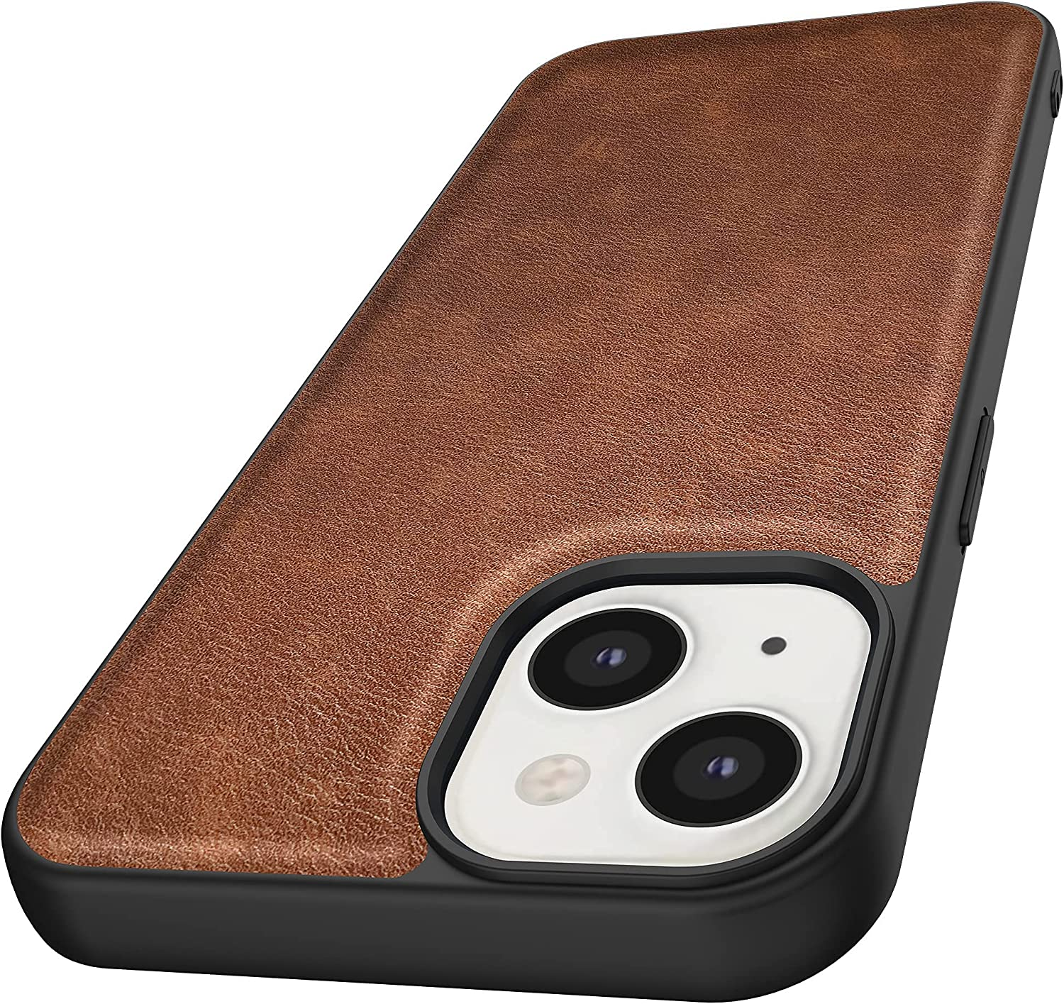Kqimi Case for iPhone 13 Mini, Premium Leather Slim Stylish Soft Grip Shockproof Anti-Scratch Protection Cover Cases for iPhone 13 Mini(5.4