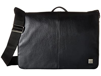 KNOMO London Brompton Classic Bungo Expandable Messenger (Black) Messenger Bags