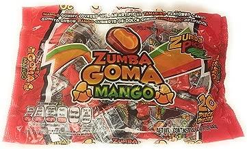 Zumba Goma Mango Gummy Covered with an Artificial Tamarind Flavored Candy Gomita Sabor Mango Cubierta de Dulce Artificial de Tamarindo, 1 bag of 1 lb