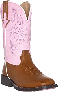 Children Western Cowboy Cowgirl Boot, Austin by Silver Canyon for Boys and Girls