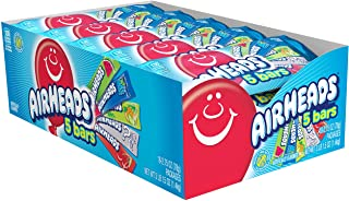 Airheads Variety 5 Full Size Bars Pack with Counter Display, Assorted Flavors, 18 Pack (90 Bars Total), 49.5 ounces