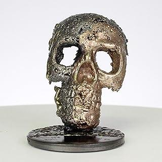 Grúa CLXVIII - Escultura cráneo acero bronce latón - Arte de vanita - Buil