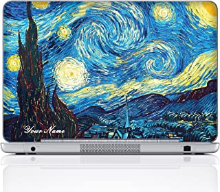 Meffort Inc Personalized Laptop Notebook Notebook Skin Sticker Cover Art Decal, Customize Your Name (14 Inch, The Starring Night)
