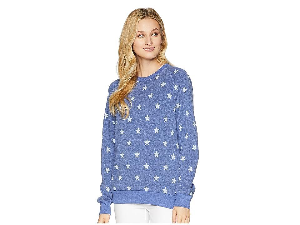 Alternative The Champ Long Sleeve Eco-Fleece (Pacific Blue Stars) Women