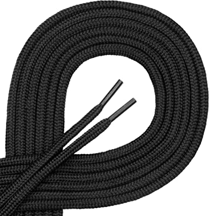 Di Ficchiano Qualitäts-Schnürsenkel, Rundsenkel für Arbeitsschuhe und Trekkingschuhe aus 100% Polyester, ø ca. 4,5 mm, 27 Farben, Längen 70-220 cm