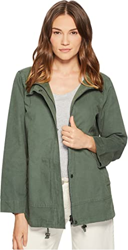 Eileen Fisher Sueded Organic Cotton Hemp A-line Jacket