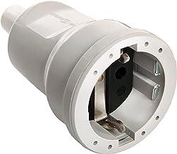 as - Schwabe 62223 PVC-koppeling, grijs, max. doorsnede 1,5 mm² 230 V/16 A, 230 V