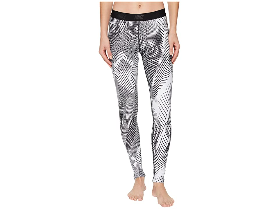Nike Golf Printed Tights (White/Black/Flat Silver) Women