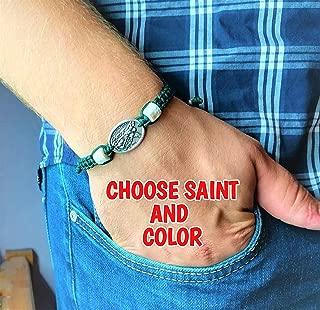 Religious Charm Medjugorje Stone Beads Bracelets - Catholic Saint Medals For Men Women Kids Christian Jewelry Gift Handmade